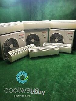 3x Toshiba Air Conditioning 14kW twin split systems 7kW wall Units R410A