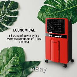 Air Cooler Portable Conditioning Room 4in1 Fan 6 Litre Tank 65W Purifier Red