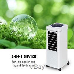 Air Cooler Portable Conditioning Room Fan 8 L 100W 650 m³/h Remote Control White