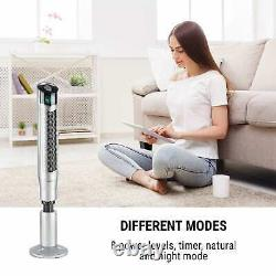 Air Fan Portable Conditioning Tower 360 Oscillating Remote Ioniser 50W Silver