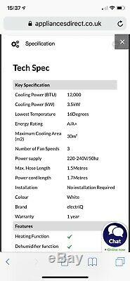 Air conditioning unit 12000 BTU (Brand New Unopened)