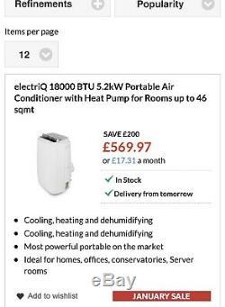 Air conditioning unit 18000 BTU (Brand New Unopened)