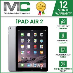 Apple iPad Air 2, 16GB, 32GB, Wi-Fi, 9.7in, Grade A Condition, 12 Month Warranty