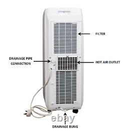 BLU09 Portable Air Conditioning Unit 9,000BTU with Complimentary Window Kit