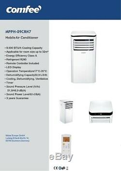 Comfee Portable Air Conditioning Unit MPPH 9000 BTU Free Safe and FAST Delivery