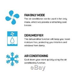 Daewoo Portable Air Conditioning Unit Home 3-in-1 Fan Dehumidifier Conditioner