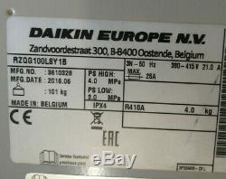 Daikin Air Conditioning System 10Kw Wall Mounted FAQ100C 2016 3Ph 400v RZQG100L