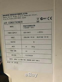Daikin Air-Conditioning Unit R410a FAQ100 Wall Unit