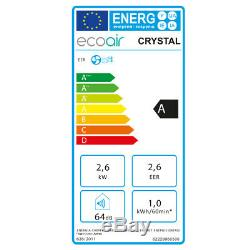 Ecoair 9000btu Portable Mobile Air Conditioning Unit Cool Low Energy Crystal