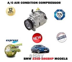 For Bmw 335d 286bhp 2006-on New Ac Air Conditioning Con Compressor Unit