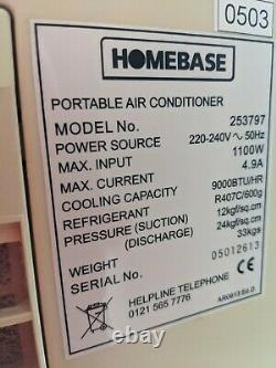 Homebase Portable Air Conditioner, 9000BTU. Air conditioning unit