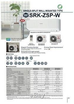 Mitsubishi SRK25ZSP-S Air Conditioner 2.5kW Wall Mount Air Conditioning System++
