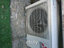 Mitsubishi air conditioning unit with inverter x 2