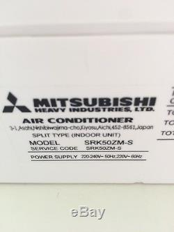 Mitsubishi split air conditioning indoor and outdoor units. 13 months old