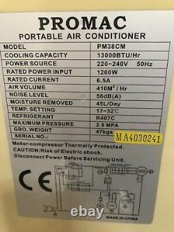 Promac PM38CM Air Conditioning Unit VGC 13000 BTU Powerful Cold Portable AC