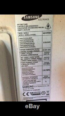Samsung Wallmounted Air conditioning Unit With Outdoor Unit